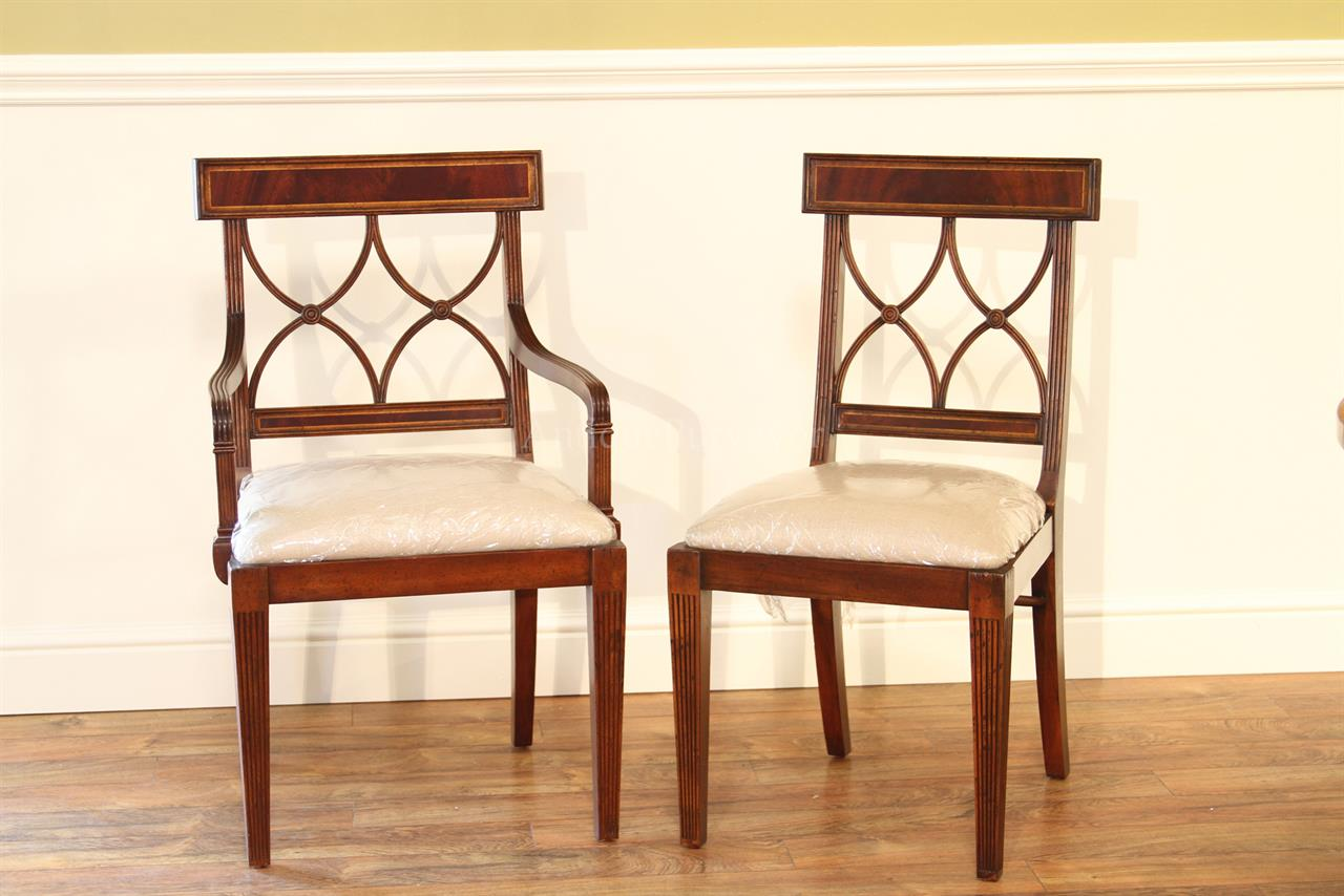mahogany cross back dining chairs inlaid mahogany chairs. Black Bedroom Furniture Sets. Home Design Ideas