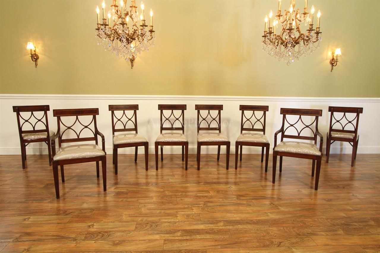 Solid Mahogany High End Cross Back Dining Chairs