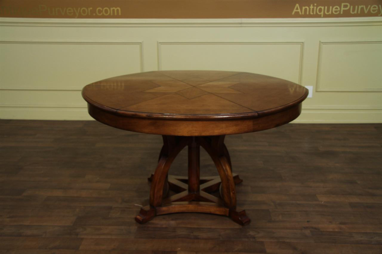 Solid Walnut Round Arts and Crafts Expandable Dining Room  : solid walnut arts and crafts expandable round dining table 13331 from www.antiquepurveyor.com size 1280 x 853 jpeg 62kB