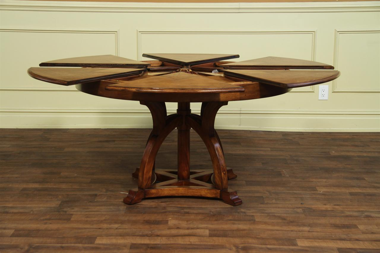 Expandable Round Dining Table solid walnut round arts and crafts expandable dining room table