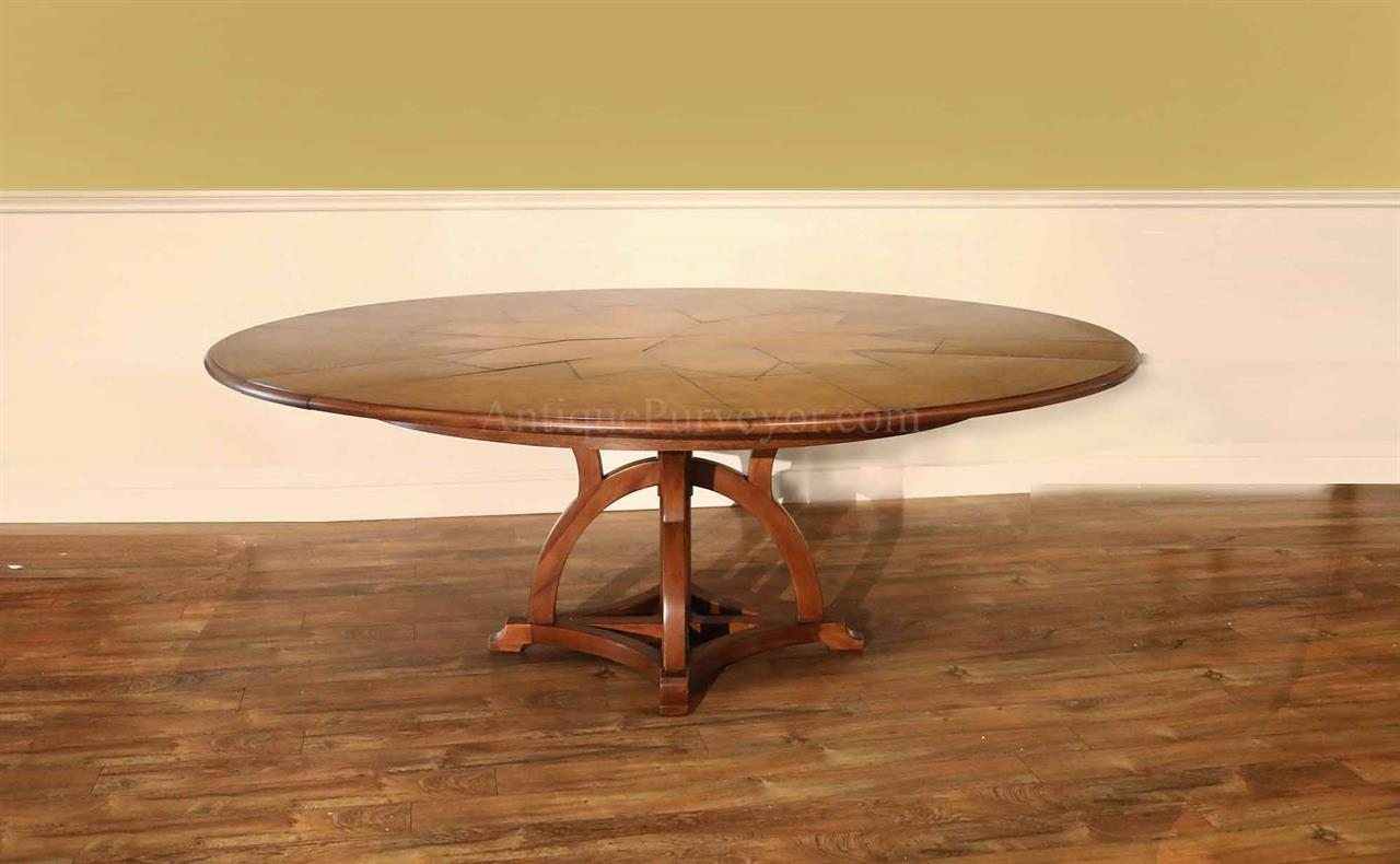 expanding circular expandable dining round walnut watch youtube in table