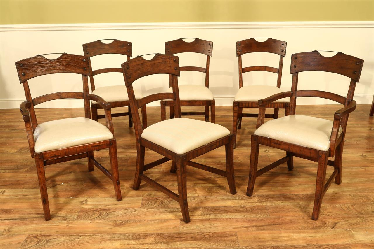 strong dining room chairs | New Solid Walnut Rustic Dining Room Chairs