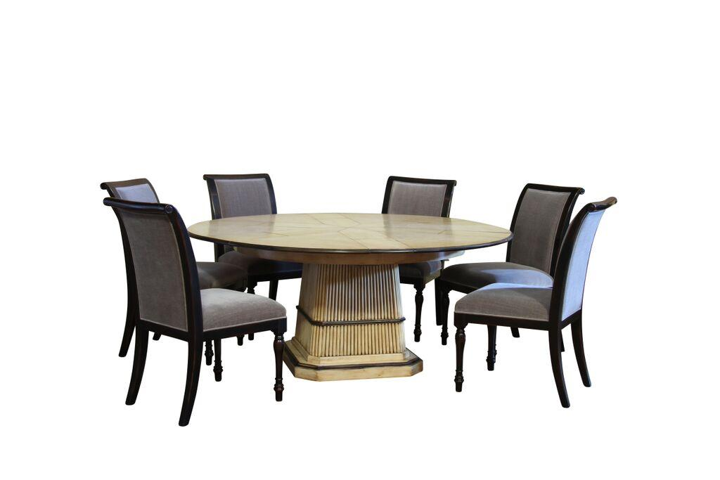 6 solid walnut high quality ebony dining chairs with grey for High quality dining room furniture
