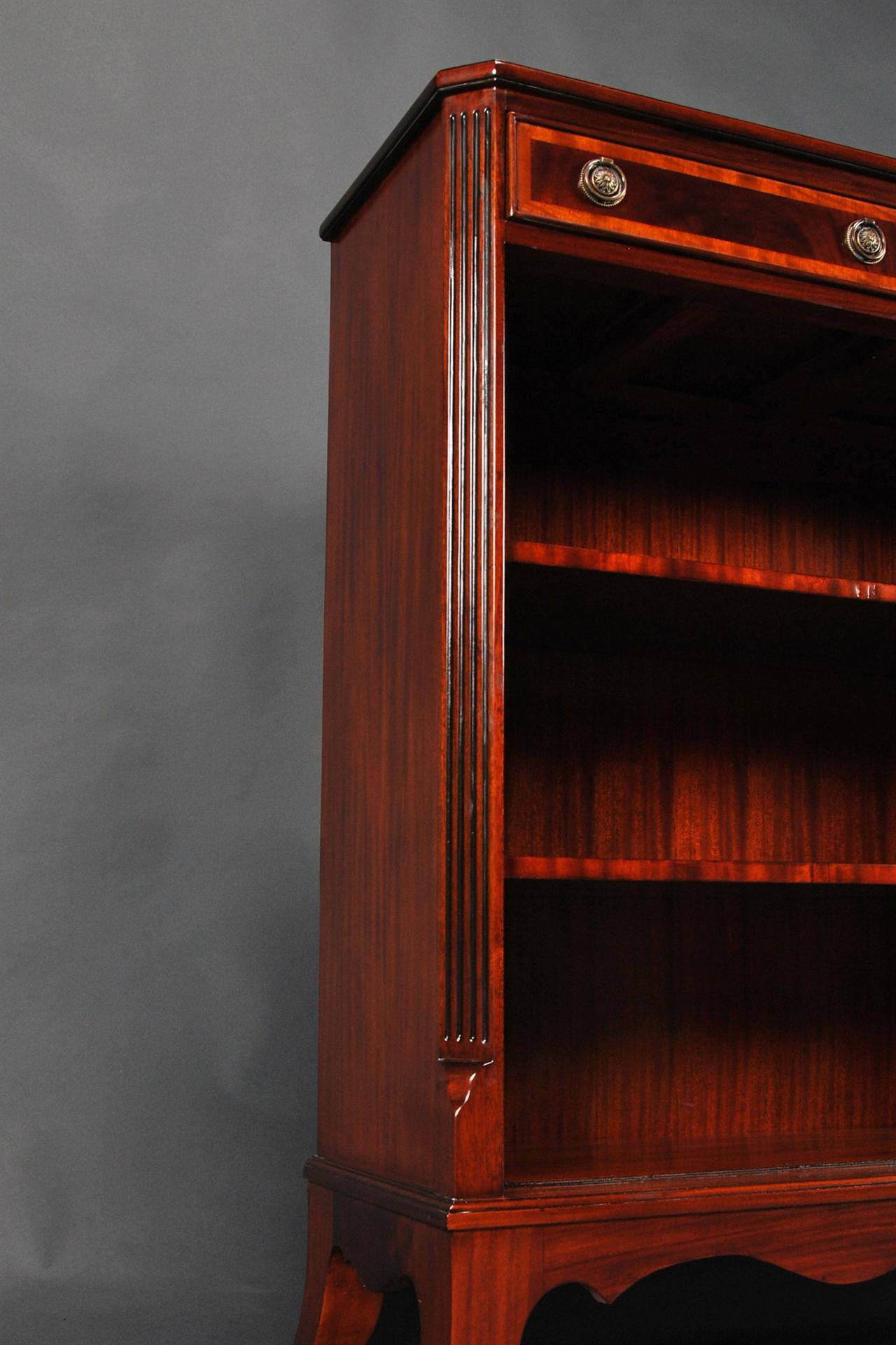 Highe End Mahogany Bookcase With Spadefoot