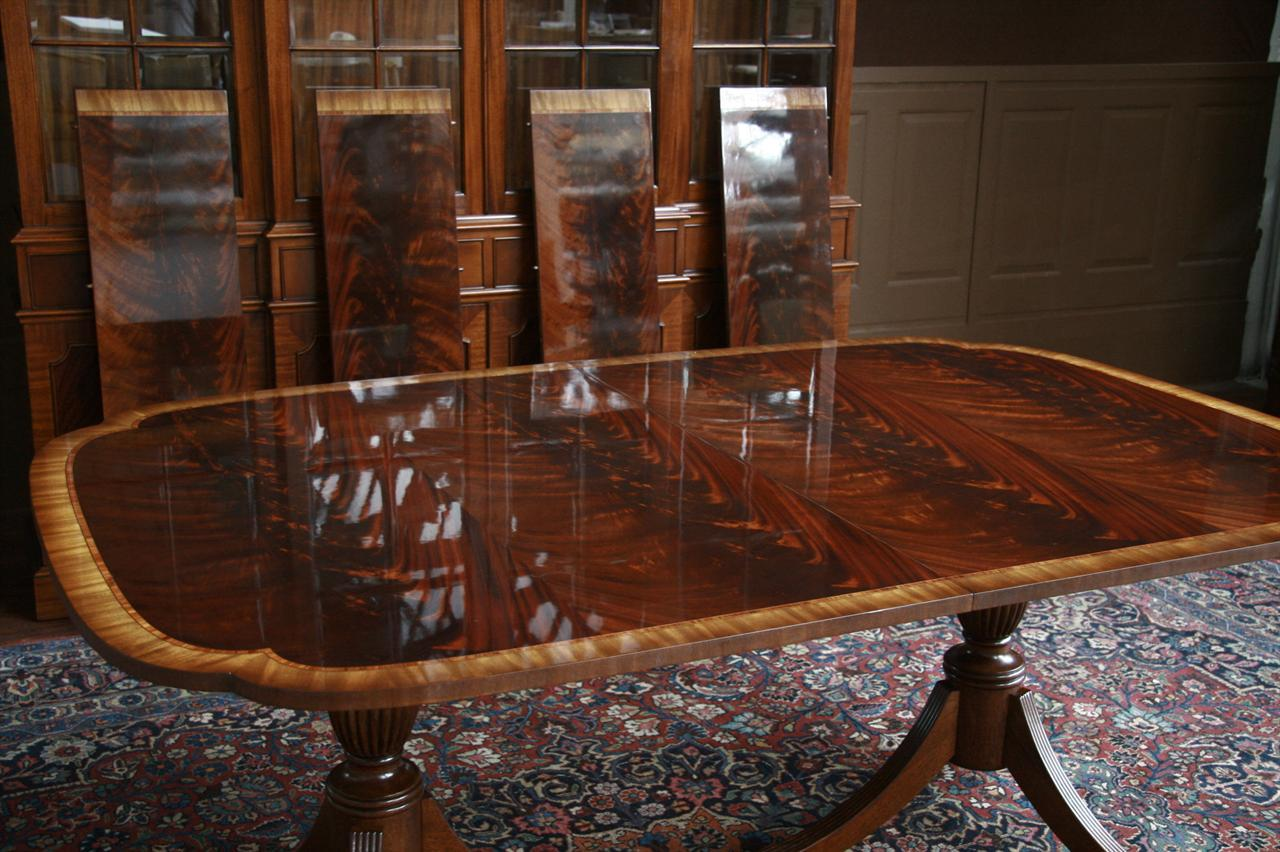 stickley duncan phyfe dining table scallop corner | ebay