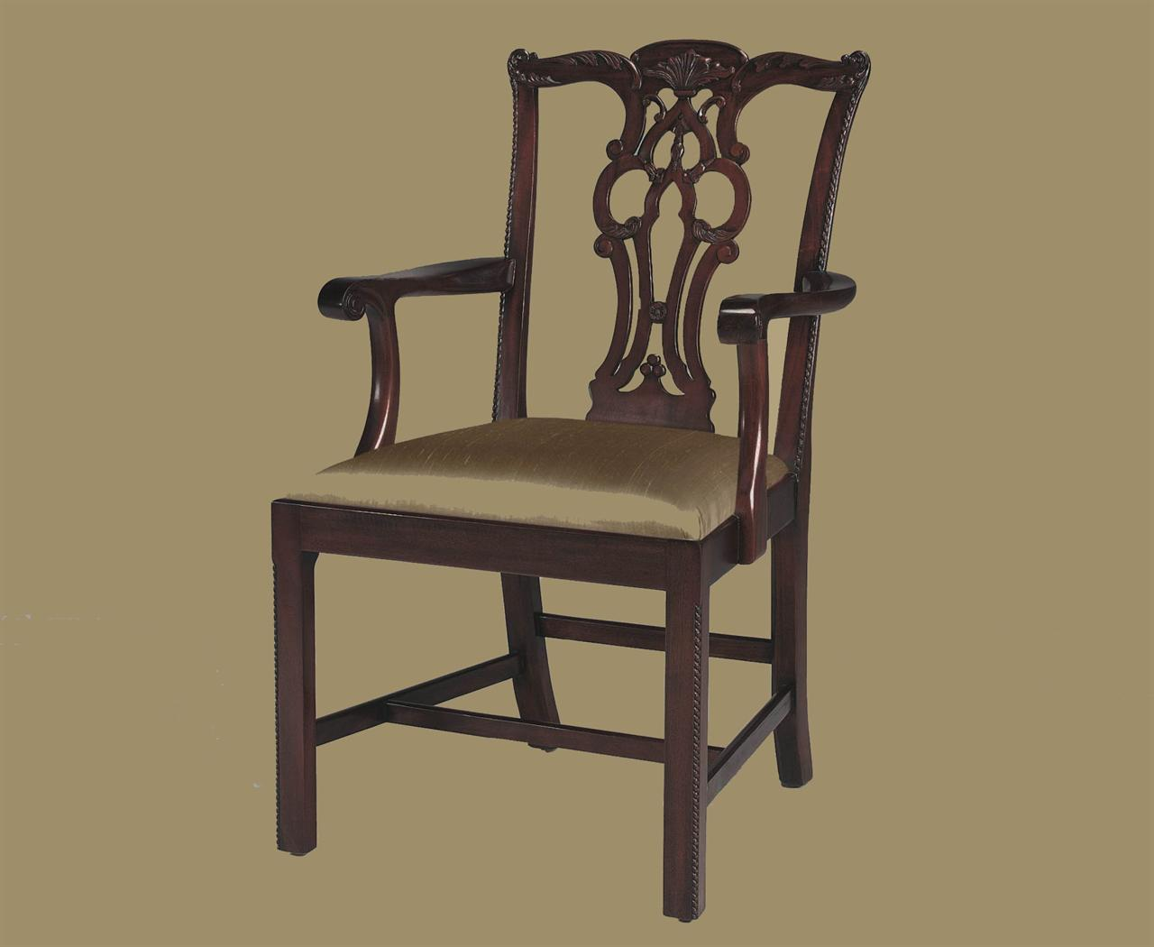 Straight Leg Chippendale Chairs, Formal Dining Chairs