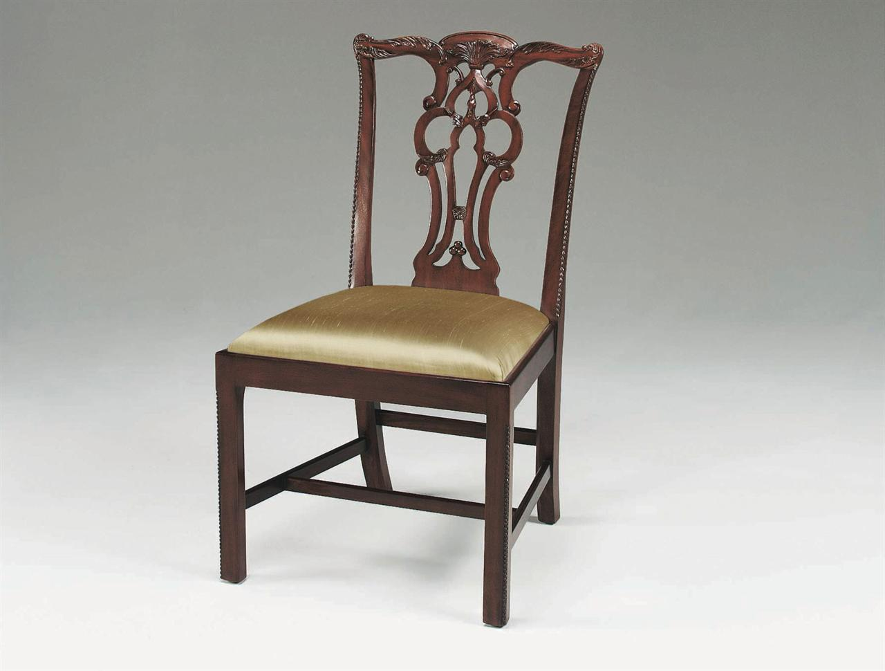 Chippendale arm chair - Solid Mahogany Chairs With Brown Mahogany Finish