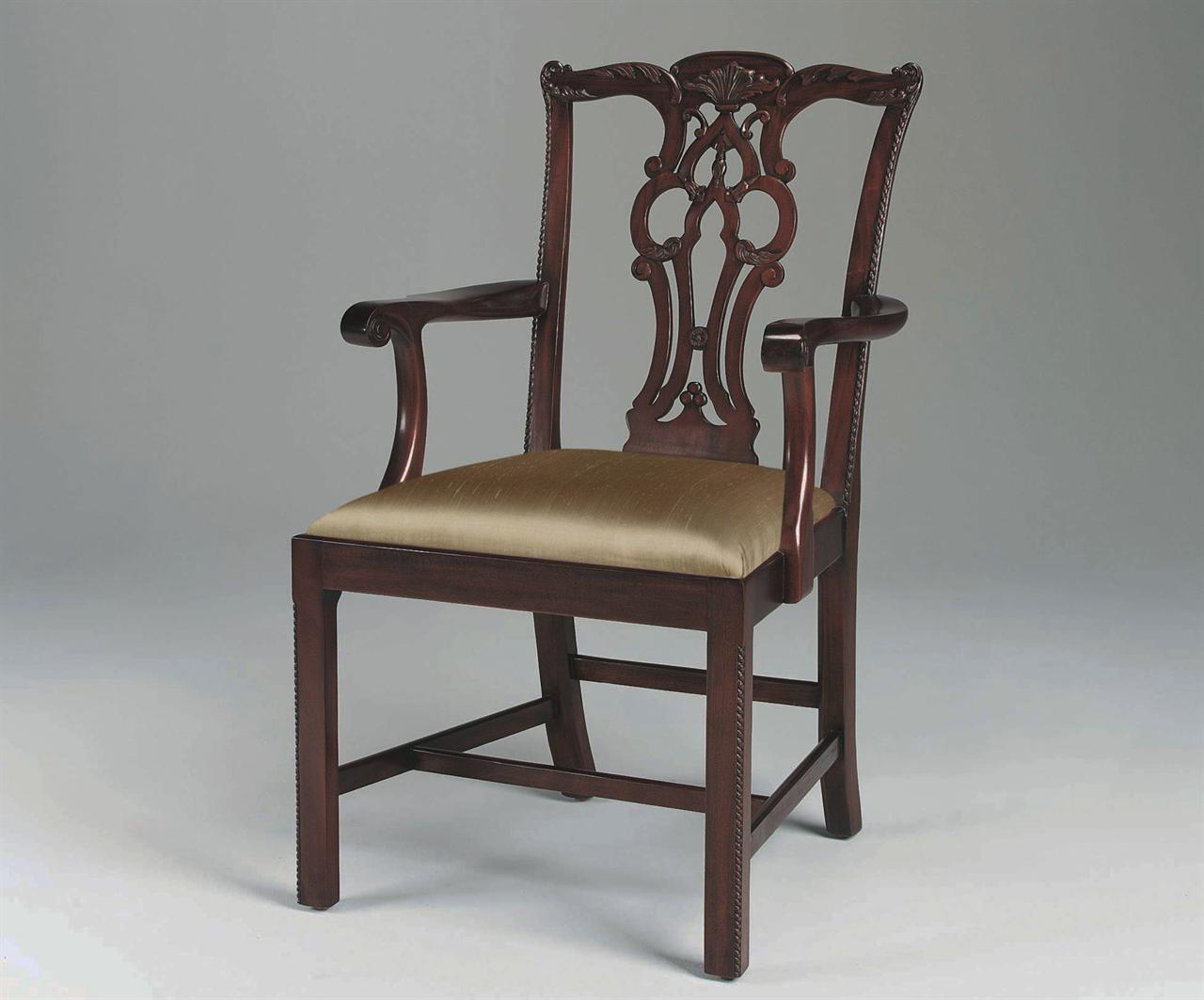 Mahogany straight leg chippendale chairs formal dining chairs for Formal dining chairs