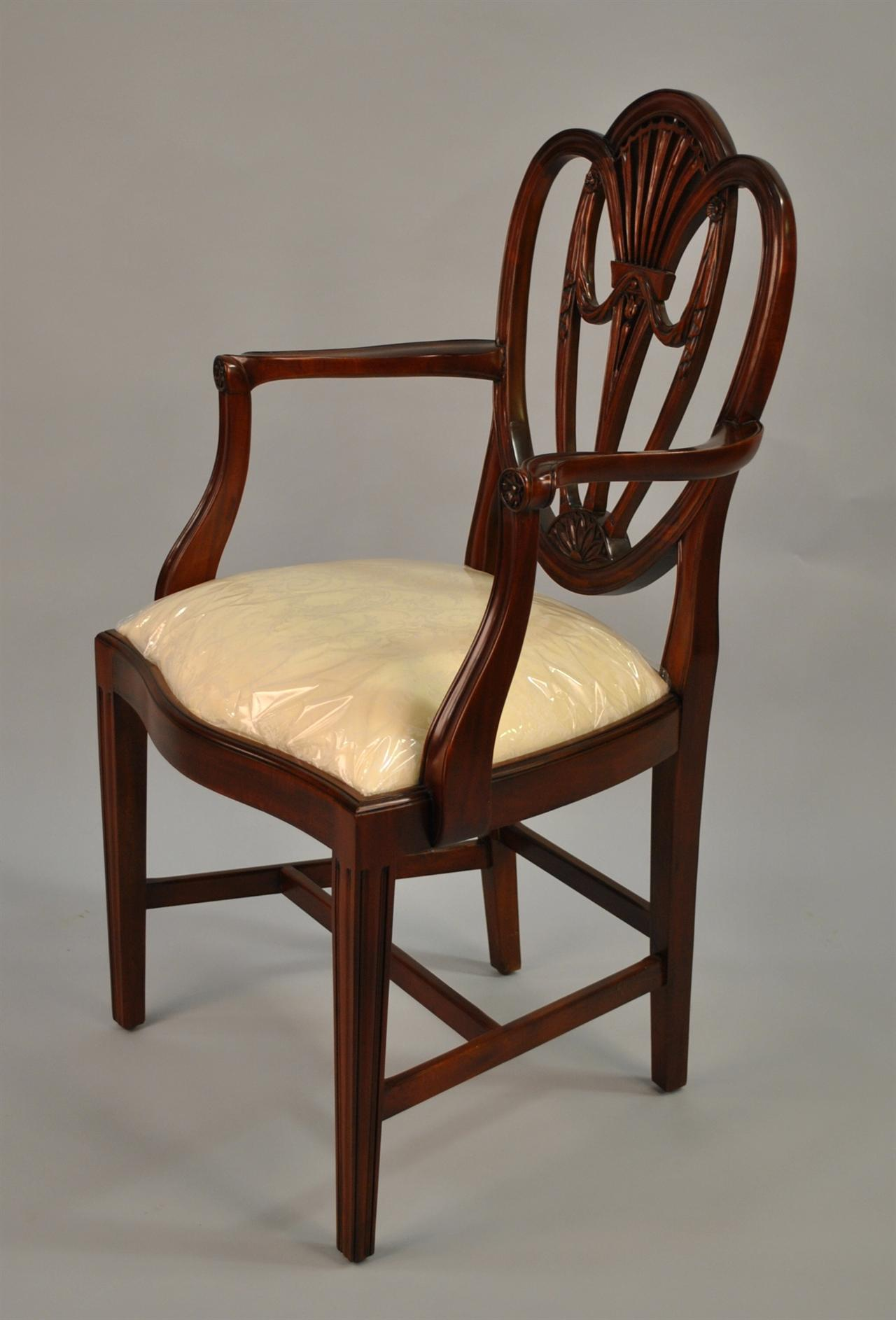 28 mahogany dining room chairs set of eight for Mahogany dining room chairs