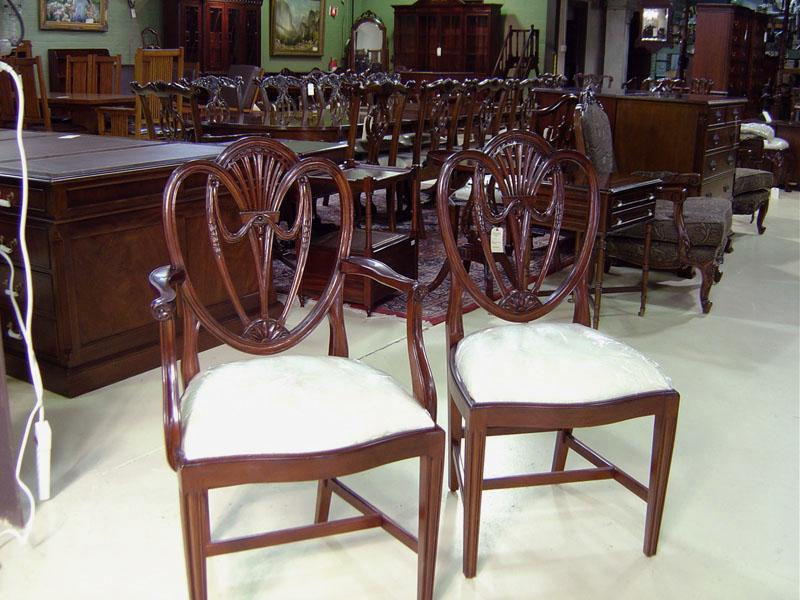 Swag Sweetheart Shield Back Dining Room Chairs Solid Mahogany | S&K