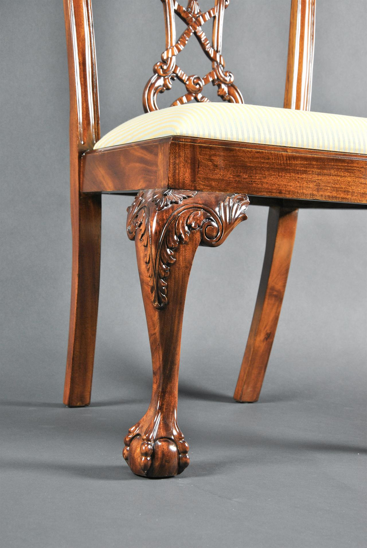Chippendal mahogany dining chairs Antique Style High End Chairs