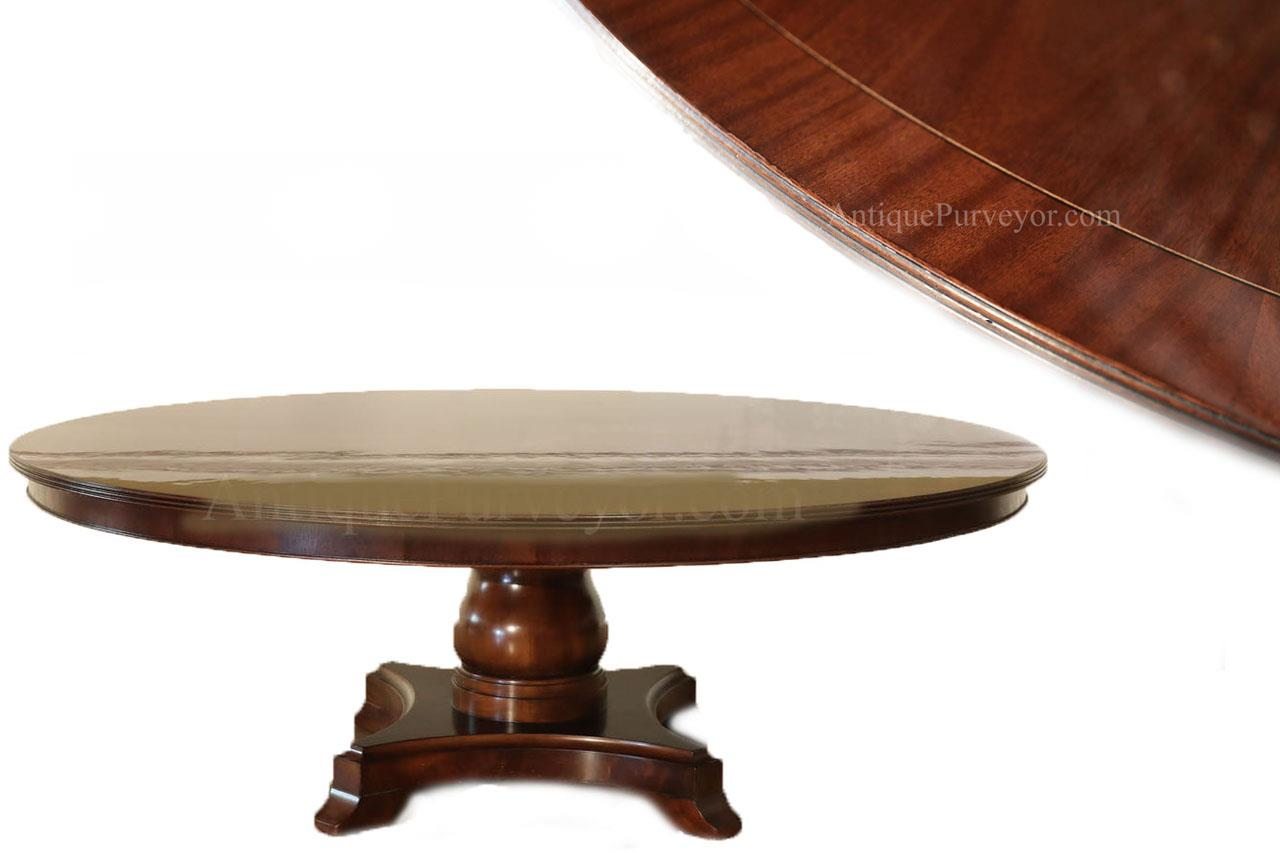 Traditional Inch Round Mahogany Dining Room Table American - 84 inch dining room table