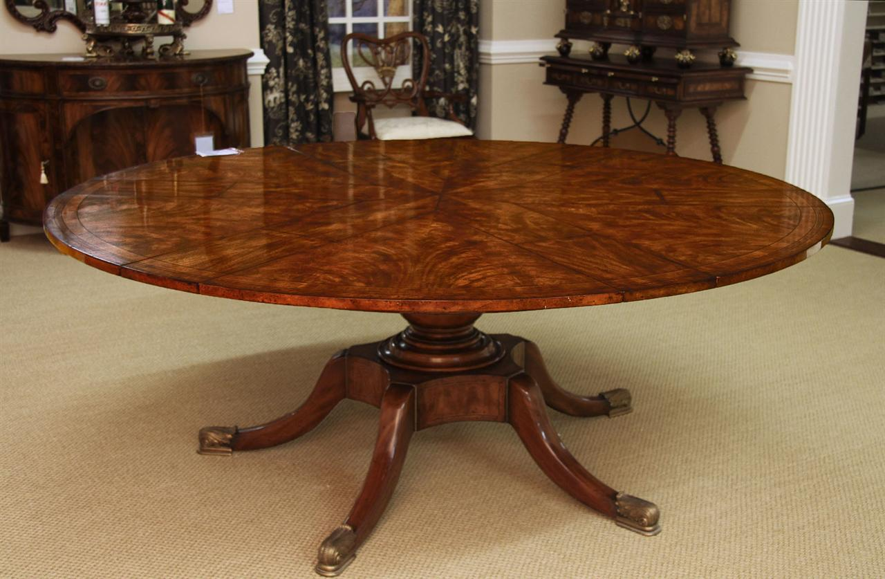 Exceptional Large Round Tables For Sale Part - 12: Fine Antique Reproduction Radial Table