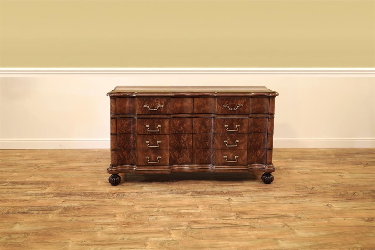 Traditional Chest of Drawers or Serpentine Side Cabinet