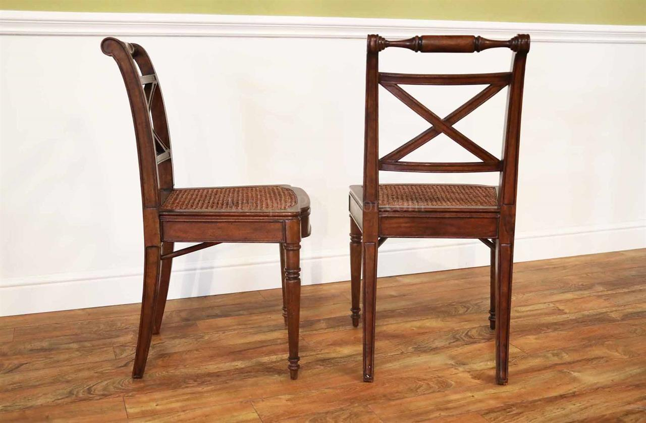 solid walnut antique reproduction cane seat dining chair. Black Bedroom Furniture Sets. Home Design Ideas