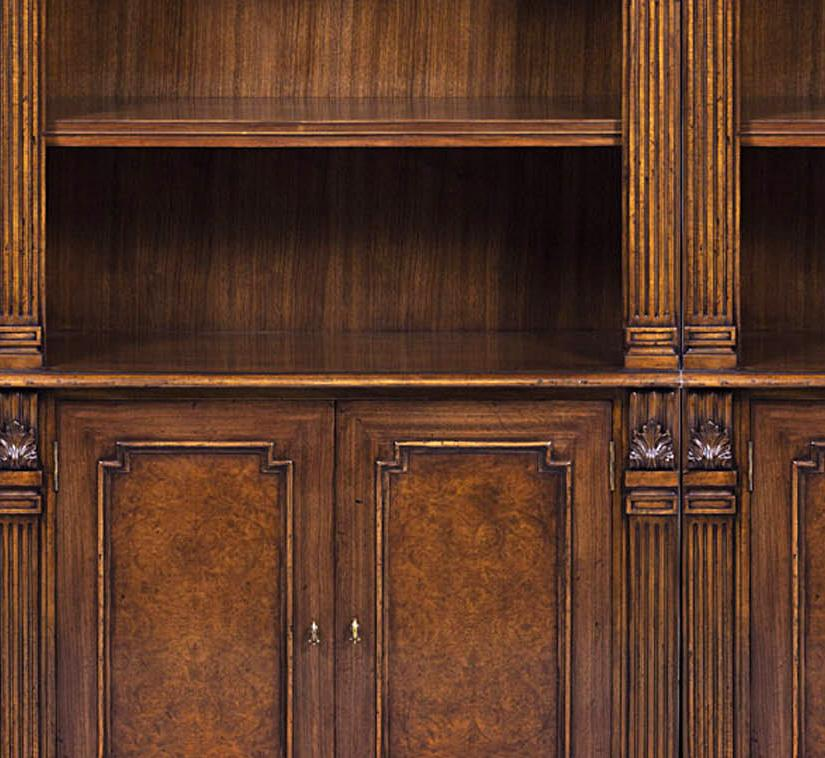 Traditional Walnut Bunching Bookcase A High End Reproduction