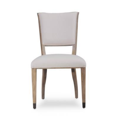 Transitional Grey Finished Upholstered Dining Chairs