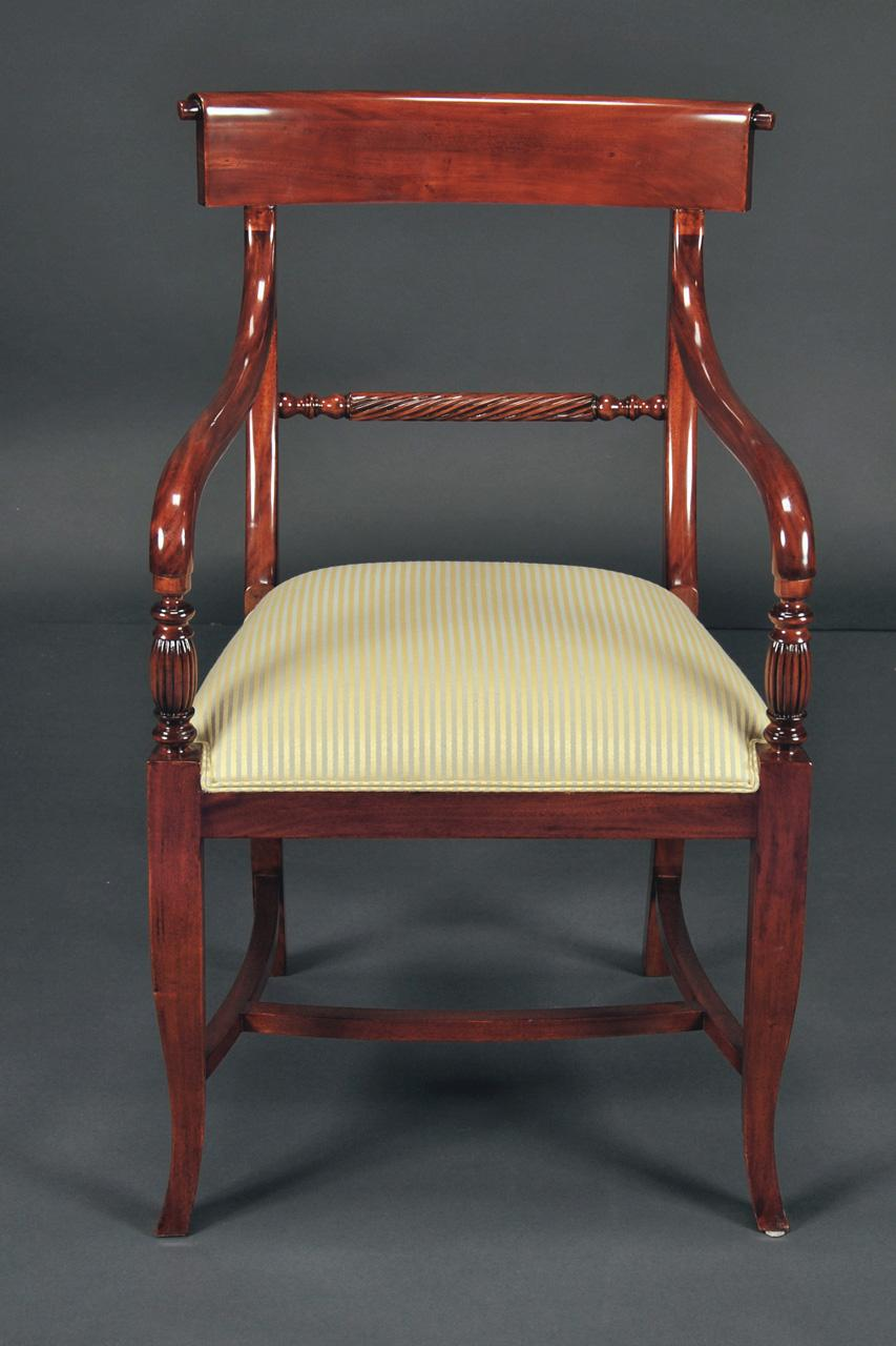 Twist Back, Regency Style Empire Chairs