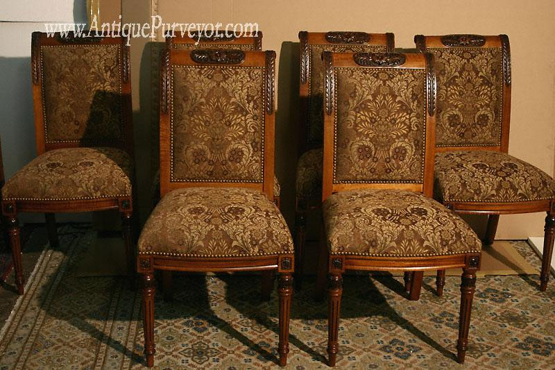 Details about Upholstered Dining Room Chairs, Custom Finish, High End