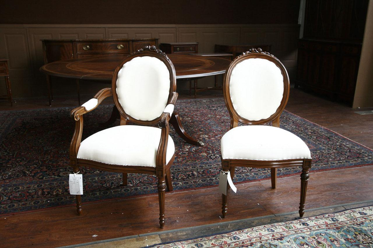 Upholstered Dining Chairs,Mahogany Round Back Chairs