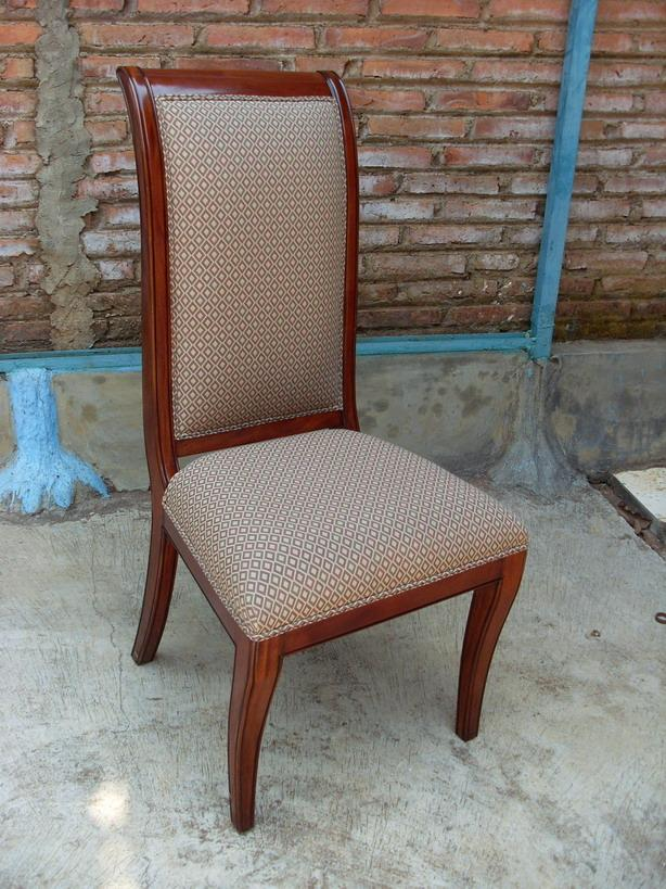 Mahogany dining room chairs regency upholstered ebay for Dining room upholstered chairs