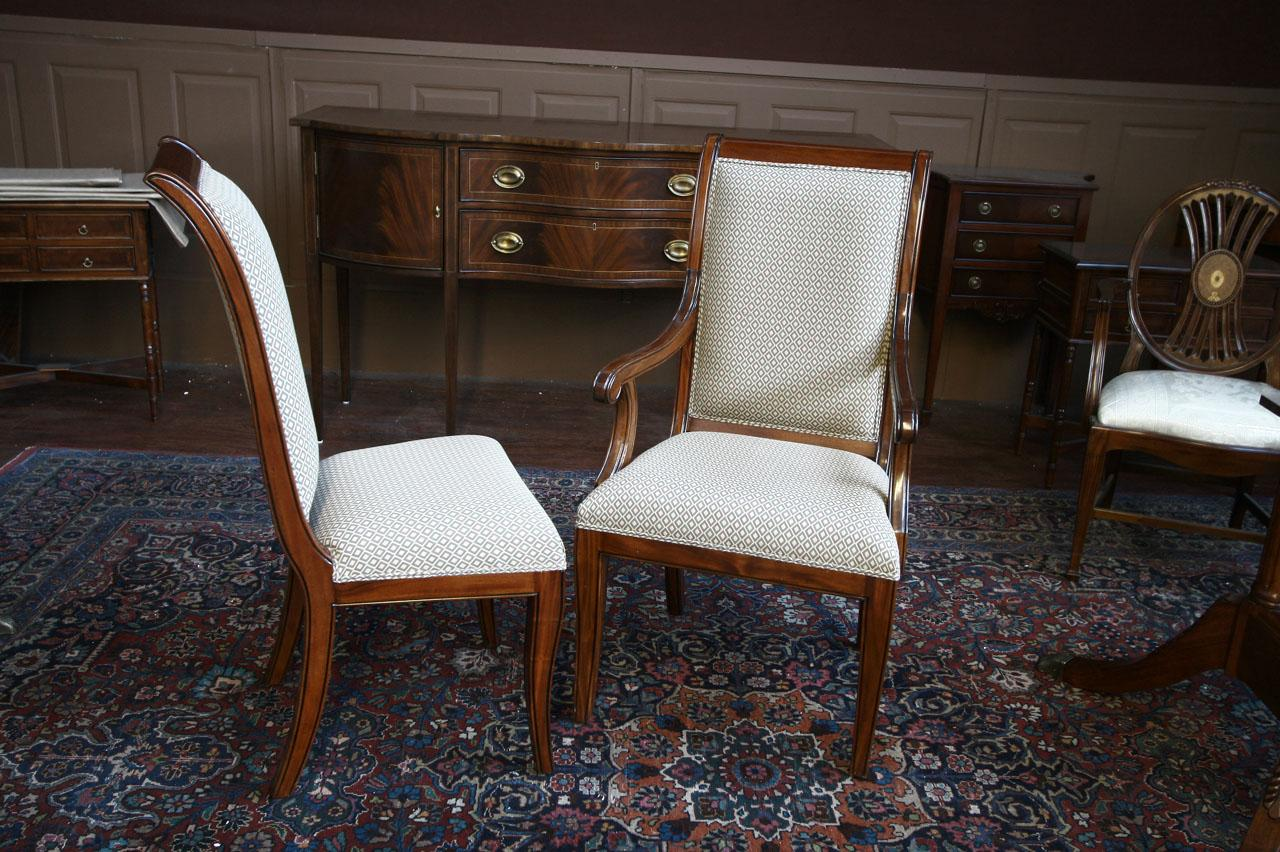 mahogany dining room chairs regency upholstered ebay