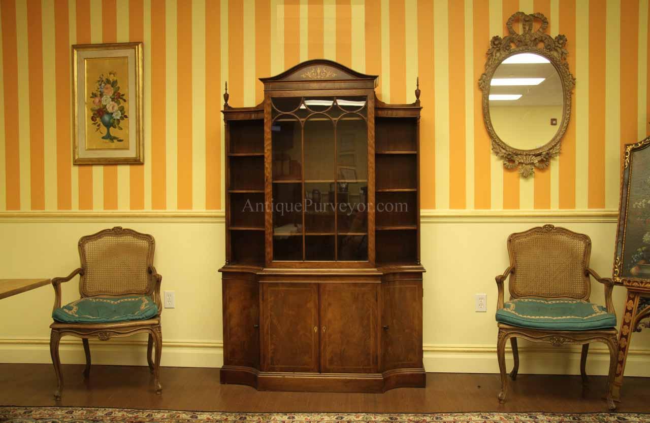 Antique Mahogany Dining Room China Cabinet By Charak