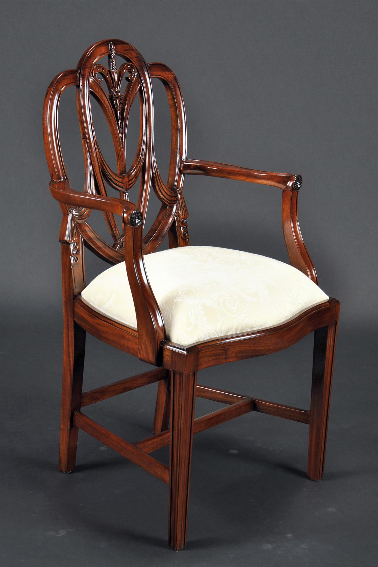 Small Vintage Size Sweetheart Sheild Back Dining Chairs