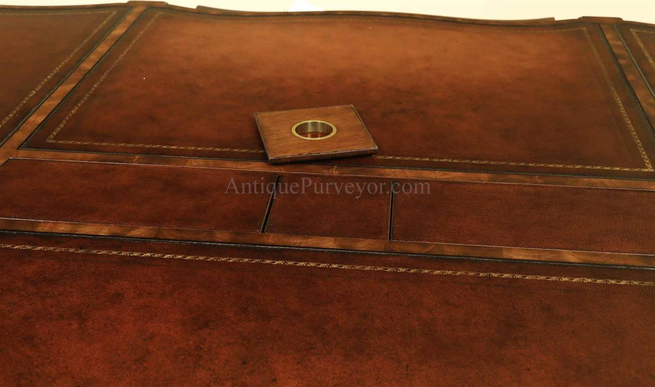 four piece reversible cover can be used with or without grommet with  leather or mahogany finish