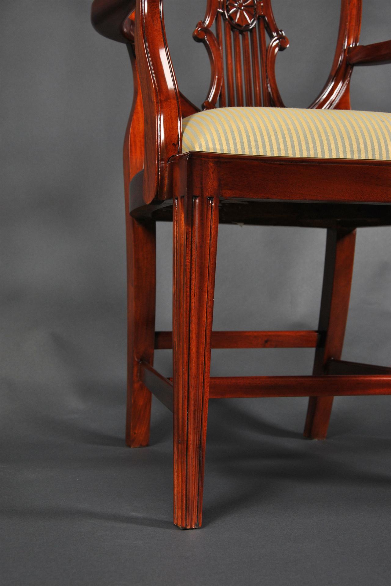Solid Mahogany Shield Back Chairs