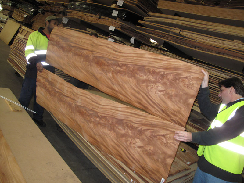 Extra long Mahogany veneer panels for baquet tables