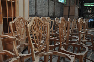These Prototypes Are Also A Part Of The King Demure Collection (Mahogany  Dining Chairs). Notice The 1:1 Drawings Under The ...