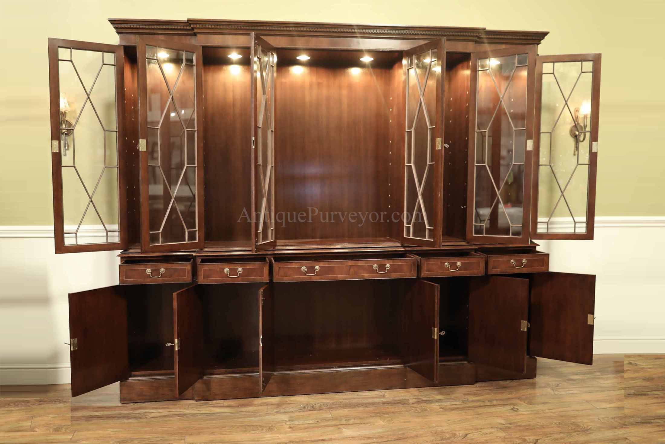 Large mahogany china cabinets for sale