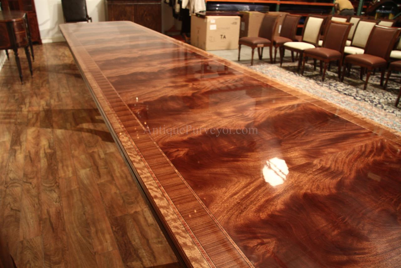 16 Foot Extra Long Dining Table Seats 20 Antiquepurveyor