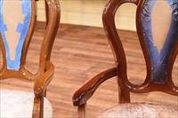 Dining chairs shown with toning service for client's special needs
