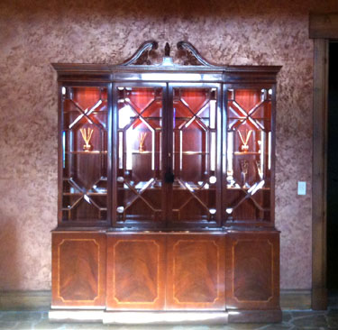 Karges mahogany china cabinet fround at discount price, designer furniture in Park City, Utah